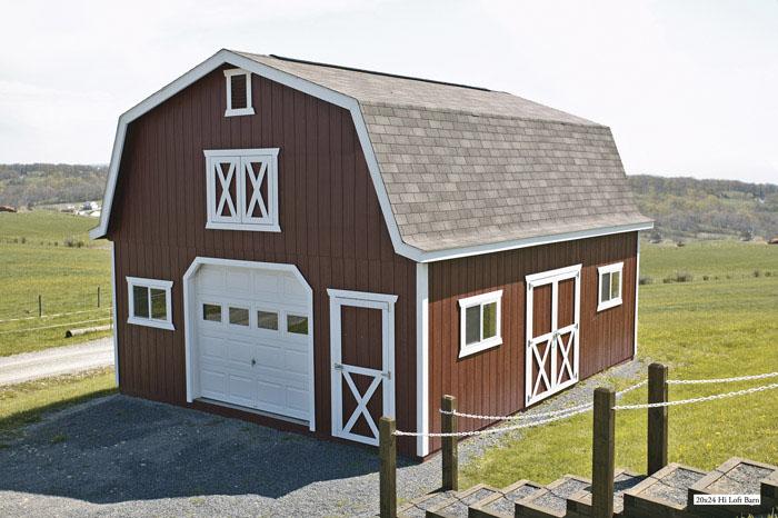nice barn with loft #5: Milleru0027s Storage Barns