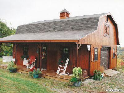 Hi Loft Porch Barn, Garden Sheds, Cabins, Barns, Custom Garden Sheds,
